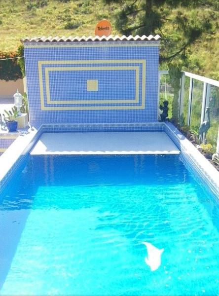 Schwimmbadabdeckung mit Aufwicklung unter Wasser und über dem Beckenboden!