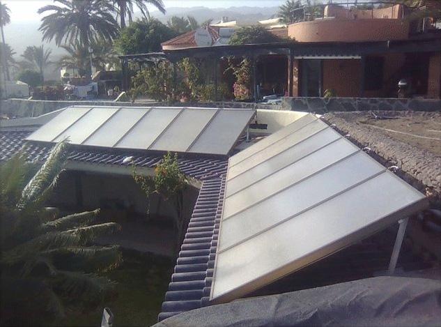 Solarkollektoren für Schwimmbad Beheizung und Warmwasser!